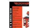 Crown - Model BBS20 - Concrete Saws - Brochure
