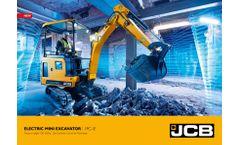 JCB - Model 19C-1E - Electric Mini Excavator - Brochure