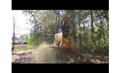 EX54 Torrent Mulcher CAT 323F Video