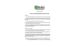 UltraTech - Grate Guard - Installation and Maintenance Instructions  Manual