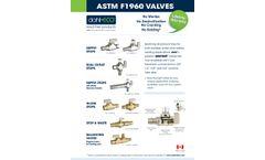 ASTM F1960 Valves - Datasheet
