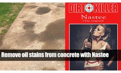 Remove oil stains from concrete
