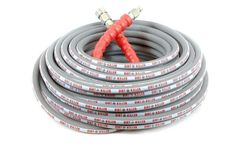 Dirt Killer - Model 100 FT - Grey Non-marking Single Wire High Pressure Hose Assembly