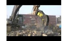 HYDRARAM HFP-20V Pulverizer busy with recycling job Video
