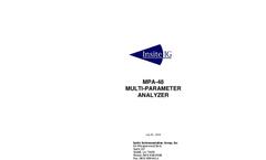 Model MPA-48 - Multi-Parameter Analyzer - Manual