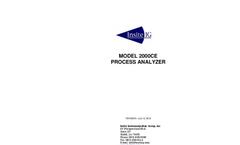 Model 2000CE - Process Analyzer - Manual