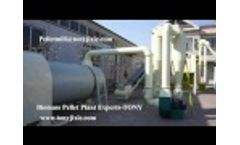 TONY Biomass Pellet Plant From Debarker to Packing Machine Video