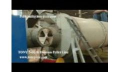 TONY 5-6T/Hour Biomass Pellet Line in Thailand Video