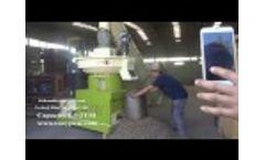 TONY Vertical Ring Die Pellet Mill TYJ550-II Video