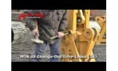 Allied-Gator MTR 20 Mobile Shear Quick-Change Jaw Set Change-Out - Time Lapse Video