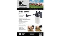 Goizper - Model 1.5 - Teat Sprayer Brochure