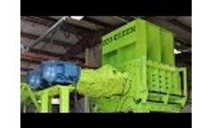 ECO Green Giant | Two-Shaft Tire Shredder Video