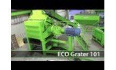 ECO Grater | Secondary Tire Shredder | ECO Green Equipment, USA Video