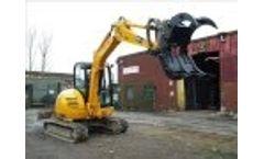 Evans & Reid Grapple - Working on a 14 Tonne Excavator - Video