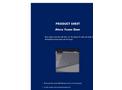 Ateco - Foam Dam Datasheet