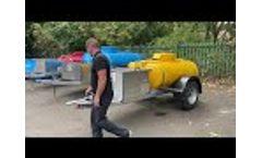 Honda pressure washer water bowser - Video