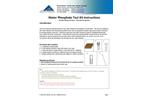 Water Phosphate Test Kit Instructions - Brochure