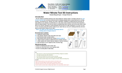 Water Nitrate Test Kit Instructions - Brochure