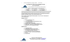 Low Range Test Tube Format Phosphate Test Kit: 100 Samples - Instructions