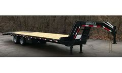 Moritz - Model FH+10 Series - Flatbed Trailer With Hydraulic Tail