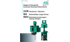 ABI Excavator Mounted Attachments Brochure