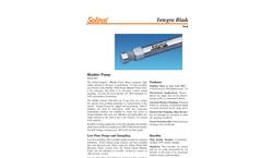 Solinst - Model 407 - Bladder Pump Data Sheet