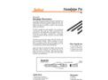 Solinst - Model 601 - Standpipe Piezometer Data Sheet