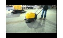 Manual Walk Behind Sweeper-P100A Video