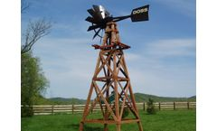 Deluxe Aeration Powder Coated Wooden Windmill