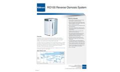 Avidity - Model RO100 - Reverse Osmosis System (RO) Brochure