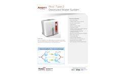 Pico - Model PICO20T2 - All-In-One DI Water System  Brochure