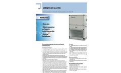 Model UTNV - Air Conditioning and Thermal Ventilation Terminal Units Datasheet