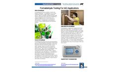 Formaldehyde Testing for IAQ Applications - Application Note
