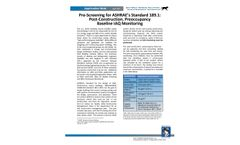 Pre-Screening for ASHRAE`s Standard 189.1: Post-Construction, Preoccupancy Baseline IAQ Monitoring - Application Note