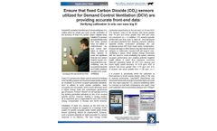 Ensure that Fixed Carbon Dioxide (CO2) Sensors Utilized for Demand Control Ventilation (DCV) are Providing Accurate Front-End Data - Datasheet