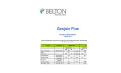 Geojute - Model Plus - Biodegradable Jute Blanket Brochure