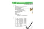 RWV - Model 9517AB LF - Brass Fixed Orifice Static Balancing Valve - Brochure