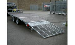 Beaver Tail Flatbed Trailer