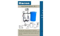 Model AD-1 - Acid Dosing System Brochure