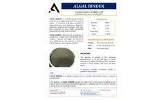 Algal Binder - Product Information Sheet