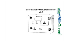 Dairy Cheq MilkGuard - Version FD - Options Monitor Software - Manual