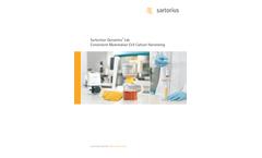 Sartoclear Dynamics - Model SDLV-0150-02C--E - Lab Filtration Kits Brochure