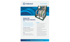 Welda - Model 500 BF - Powerful Butt Fusion Welder Machine Brochure