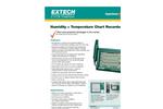 Humidity + Temperature Chart Recorder - Datasheet