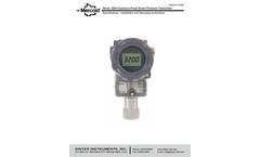 Dwyer Mercoid - Model 3200 - Explosion-Proof Pressure Transmitter - Manual
