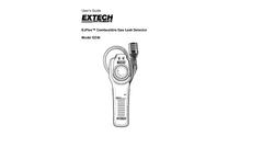 ExFlex - Model EZ40 - Combustible Gas Leak Detector - User Manual