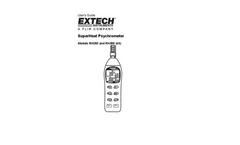 Extech SuperHeat - Models RH350 and RH355 (kit) - Psychrometer - User Manual