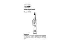 Extech - Model RH390 - Precision Psychrometer Hygro-Thermometer - Manual