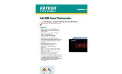 Extech - Model 461950 1/8 DIN - Panel Mount Digital Tachometer - Datasheet