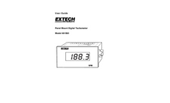 Extech - Model 461950 Panel Mount Digital Tachometer - User Manual